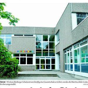 Ein Umzug steht bevor: Wird am Rietberger Schulzentrum künftig eine Gesamtschule errichtet, werden die Martinschüler in das Hauptschulgebäude in Neuenkirchen umgesiedelt. FOTO: BIRGIT VREDENBURG