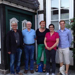 Ratsmitglieder und sachkundige Bürgerin: (v.l.) Gerd Muhle, Walter Schrewe, Christiane Schneiders, Ruth Schrewe, Jean Michel Diaz